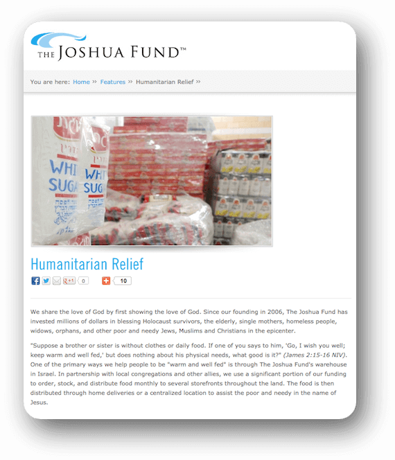The Joshua Fund Website